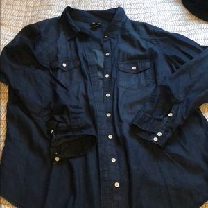 Torrid brand // chambray button up // size 1x